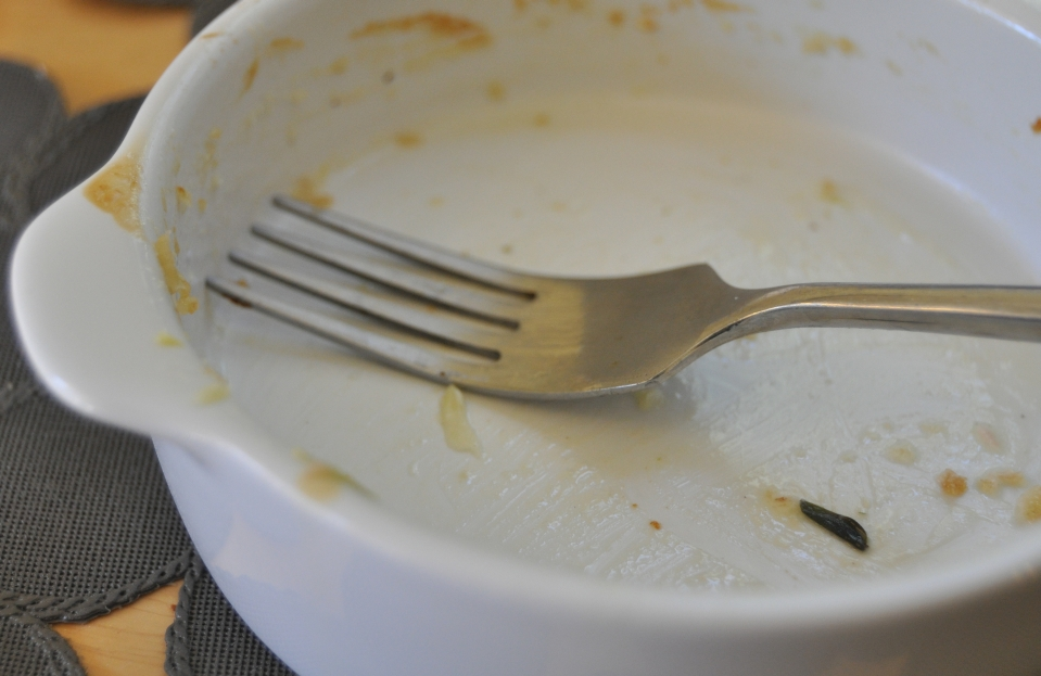 clean gratin dish