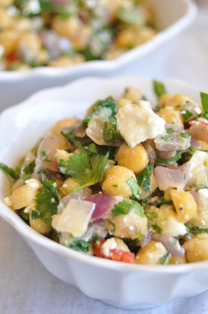 chickpea, cilantro and feta salad | fancyfoodfancy