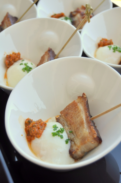 s+s gastro grub crispy pork belly w/ 63degree egg