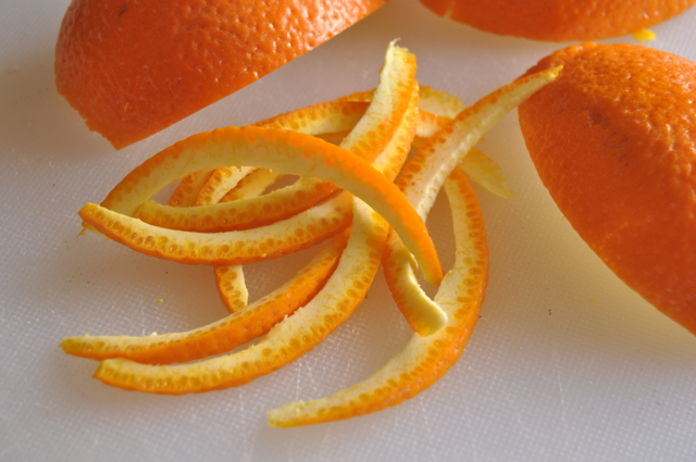 As promised, a recipe for candied orange peel to go along with that ...