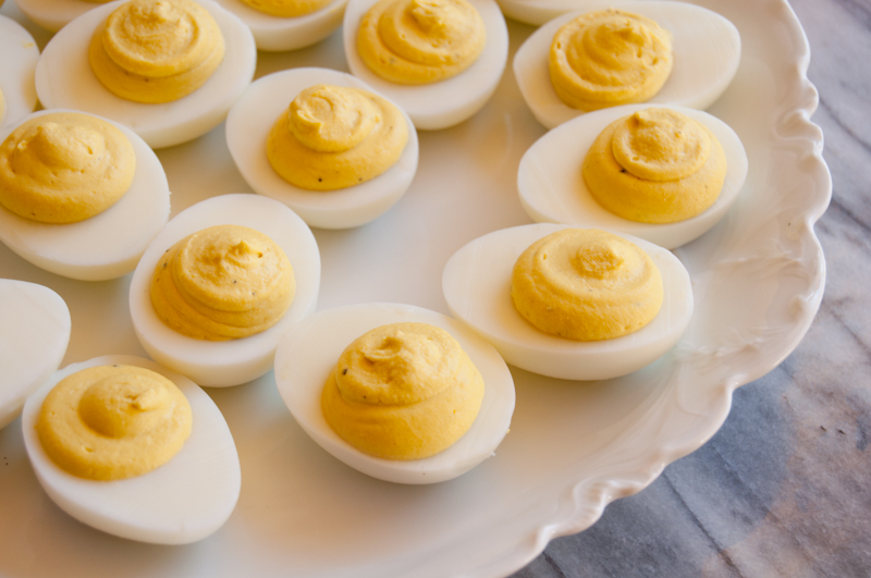 deviled eggs with bacon | fancyfoodfancy