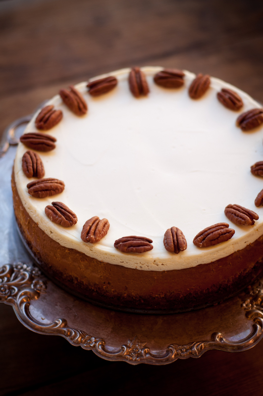bourbon pumpkin cheesecake | fancyfoodfancy